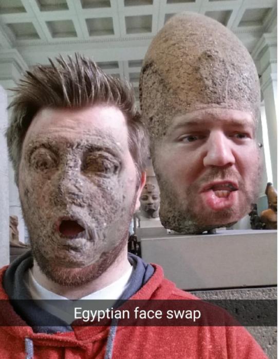 no creo que a los dioses egipcios les guste esto