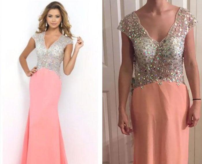 vestido rosa con plateado