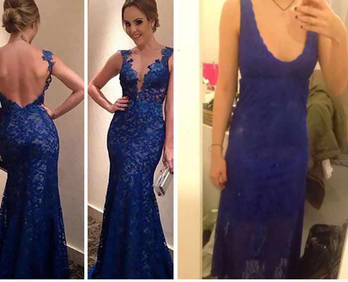 vestido azul feo internet