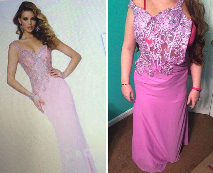 feo vestido rosa