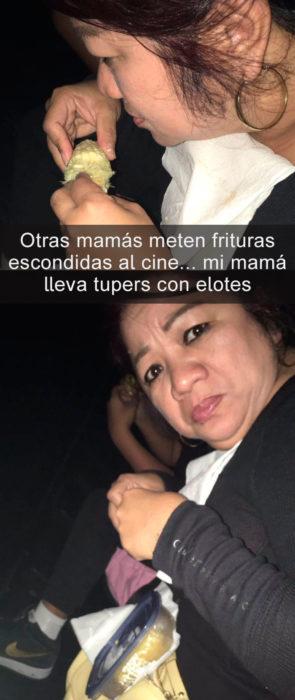 Mamá lleva elotes al cine