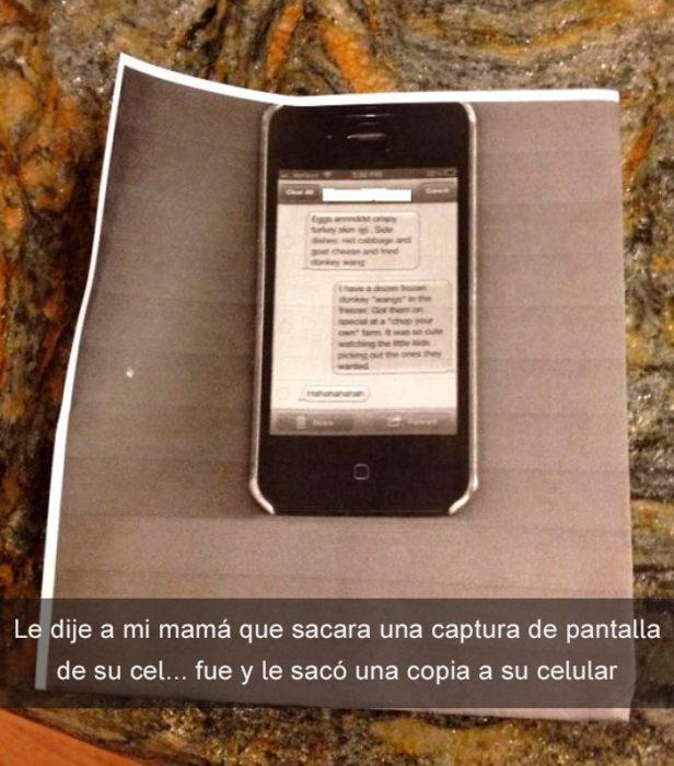 mamá copia su celular