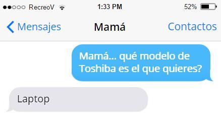 Mensajes graciosos mamá - laptop