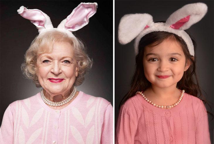 anciana conejito niña disfraz