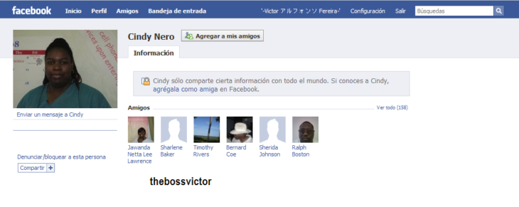 Nombres graciosos facebook - cindy nero