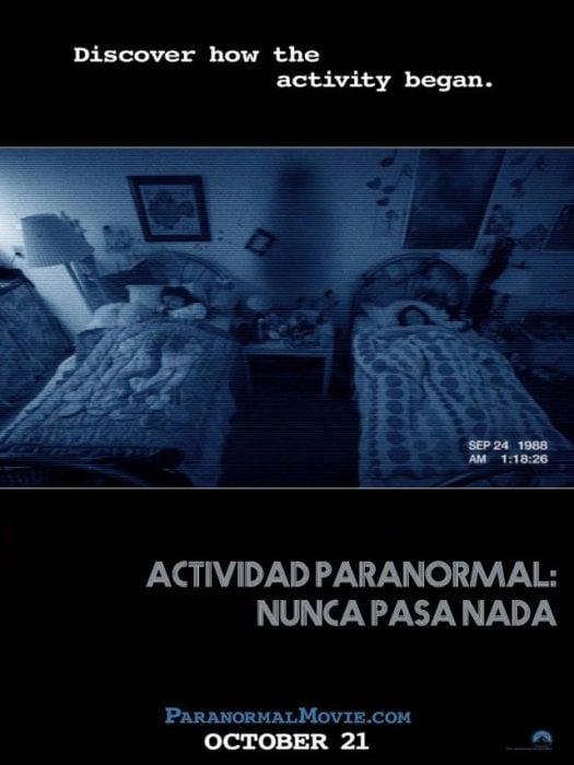 actividad paranormal nunca pasa nada