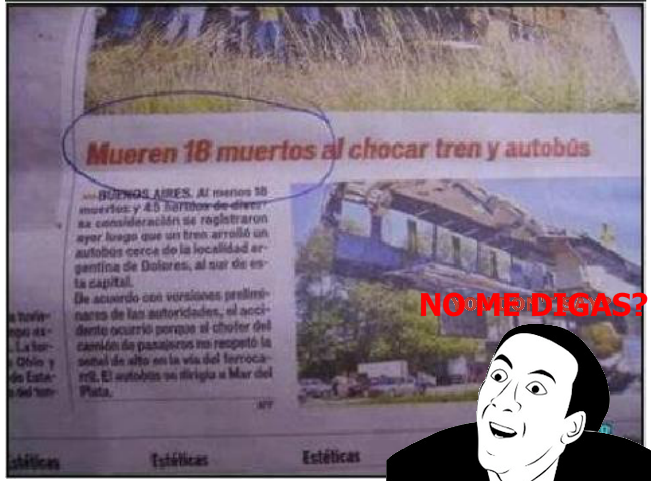 Nota periódico- mueren 18 muertos