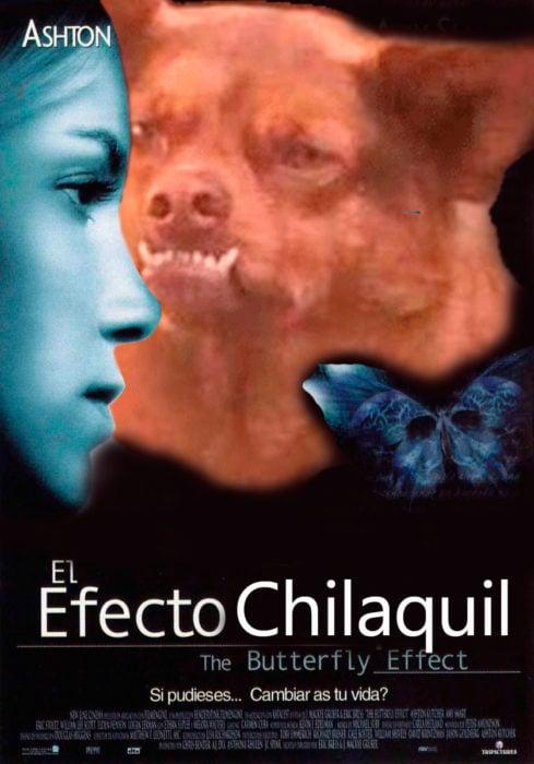 Poster de efecto mariposa con chilaquil