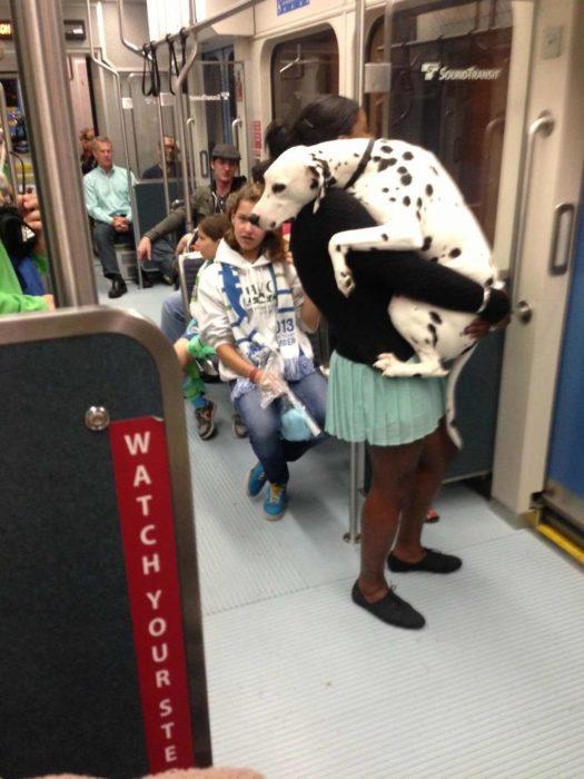 de paseo en el metro