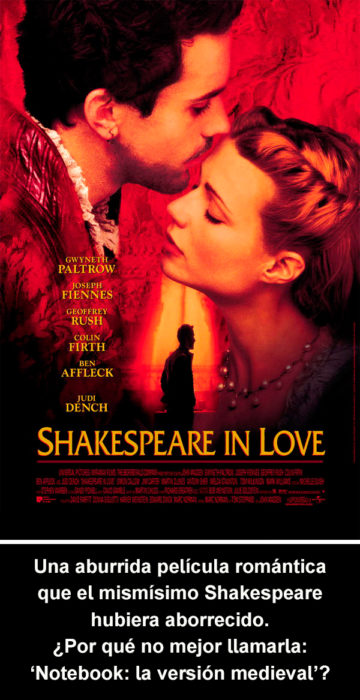 Crítica cruel Shakespeare in Love