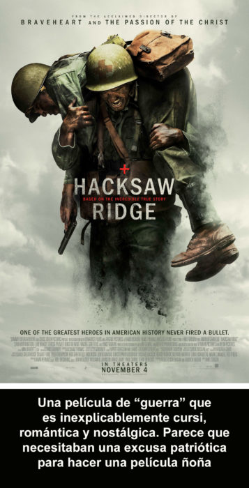 Crítica cruel Hacksaw Ridge