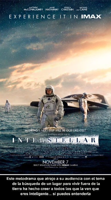 Crítica cruel Interstellar