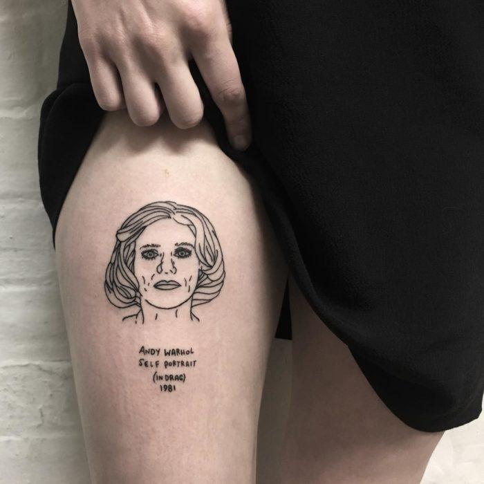 Andy Warhol autoretrato