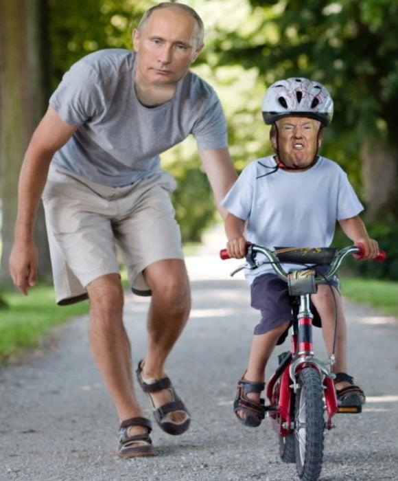 Con papá Putin