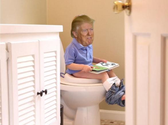 alguien por fin está aprendiendo a ir al baño