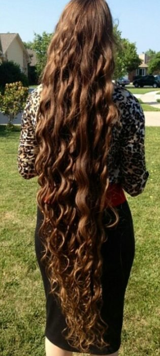 cabello semi ondulado