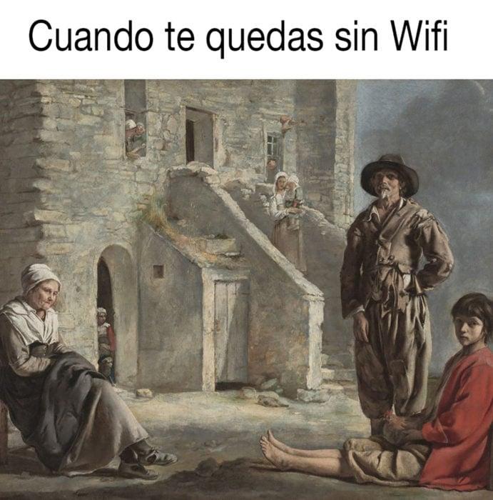 meme clásic sobre quedarte sin wifi
