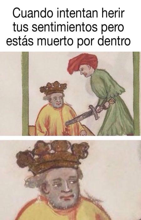 meme medieval sobre estar muerto por dentro