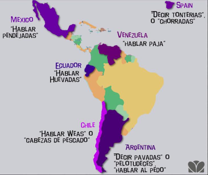 mapa sobre insultos en español