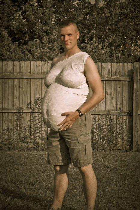 para que vea lo que es estar embarazado