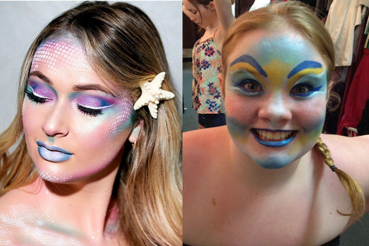 sirena maquillaje