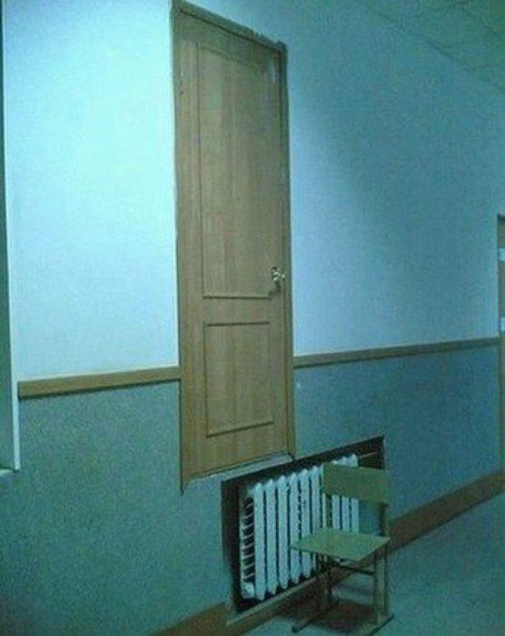 puerta flotante