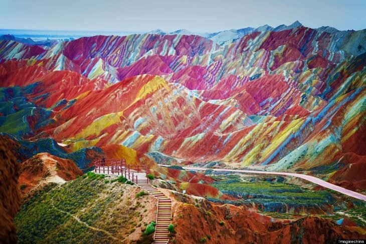 Montañas arcoíris