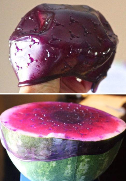 Goma para cubrir frutas