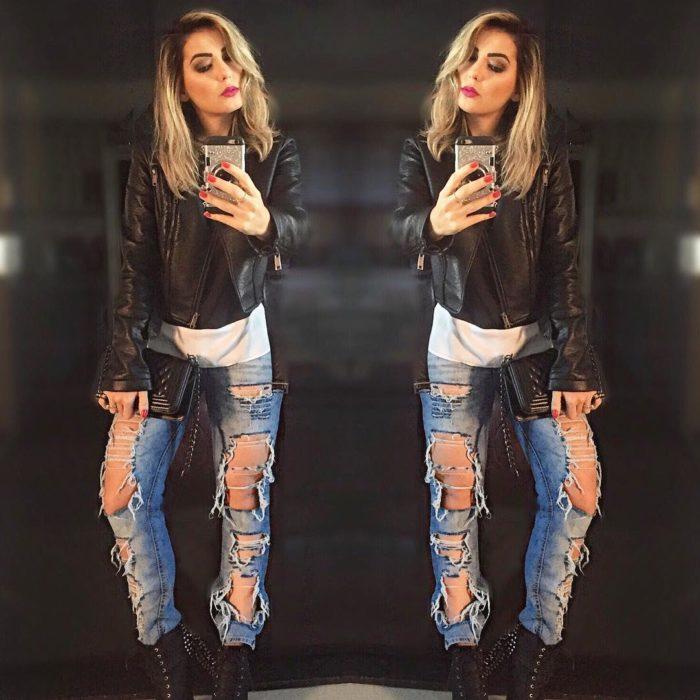 jeans destruidos