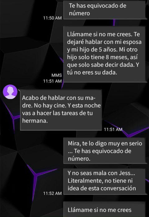 Mamá enojada manda mensajes accidentalmente a hombre de 35 a