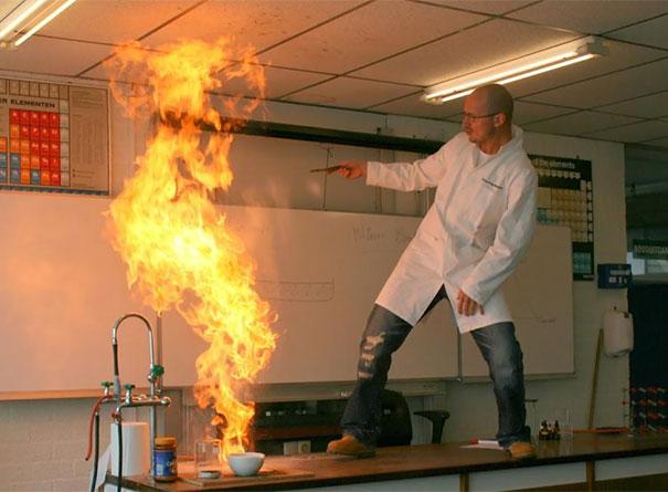 experimentando con fuego