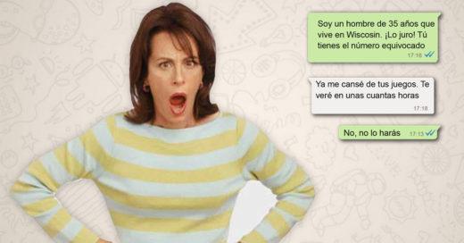 Cover Mamá enojada manda mensajes accidentalmente a hombre de 35 años