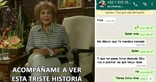 Cover Quiso chantajear a chica por WhatsApp para pedirle NUDES y le salió todo mal