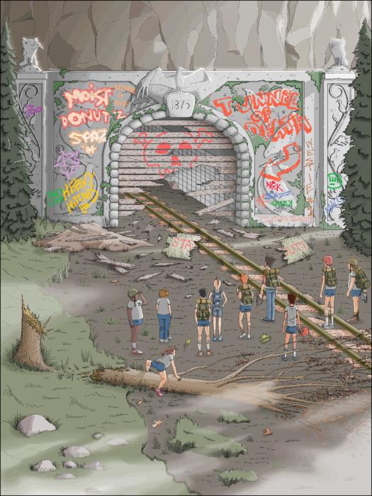 pandilleros chicos ilustración