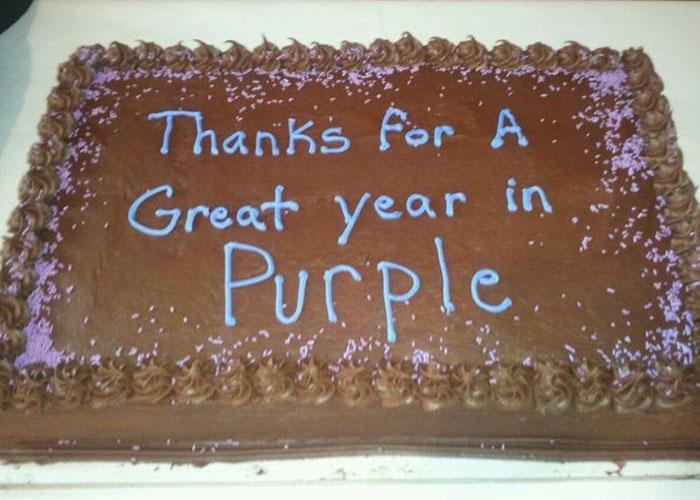 año morado pastel