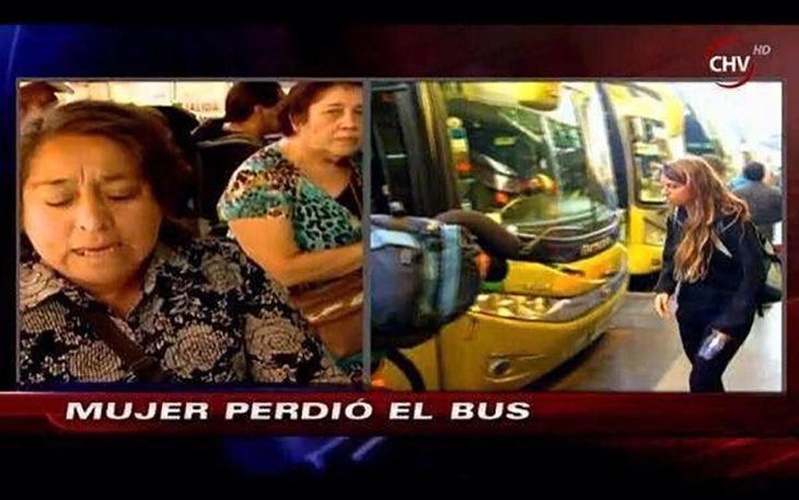 noticia sobre una mujer perdió el bus
