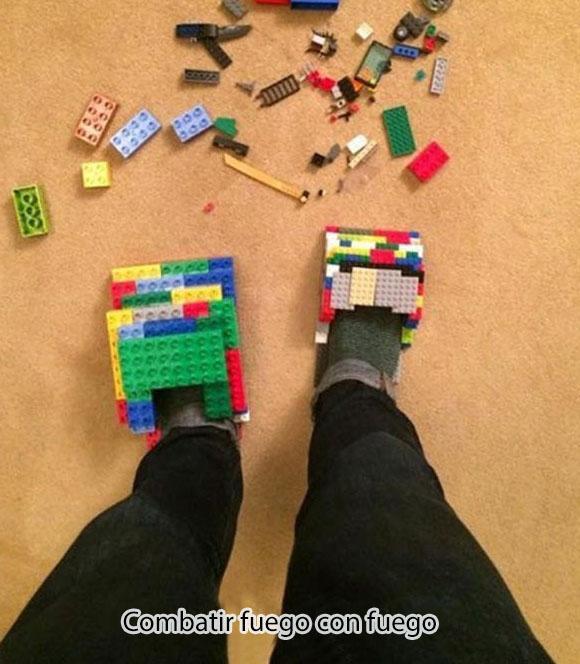 no mas legos en pies descalzos