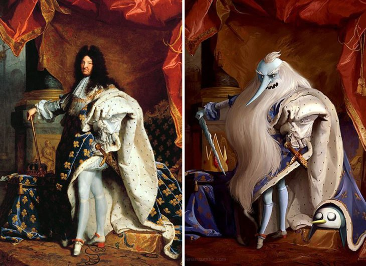 Un retrato de Luis XIV