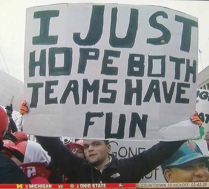 solo espero que ambos equipos se diviertan