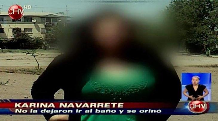 noticia sobre una mujer que se orinó