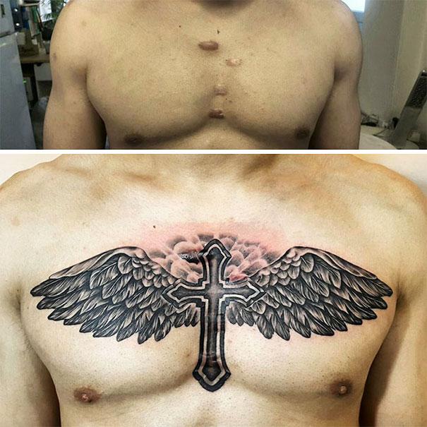 cruz con alas