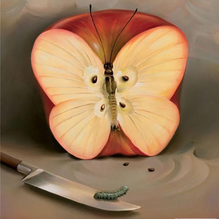 Manzana, mariposa o cuchillo