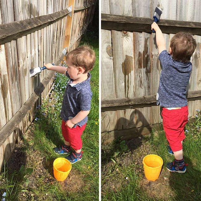 pintando con agua