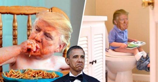 Cover La gente ha phothoshopeando fotos de Trump cuando era pequeño solo para molestarlo