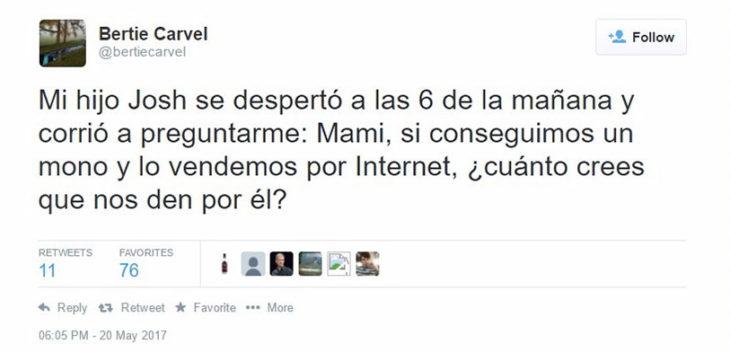 mono internet niño tuit
