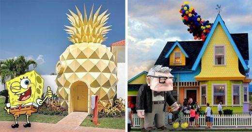 Cover Asombrosas casas reales inspiradas en dibujos animados
