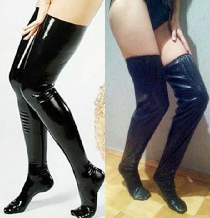calcetas piel negra
