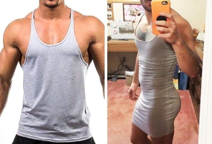ropa hombre deportiva camiseta algodón