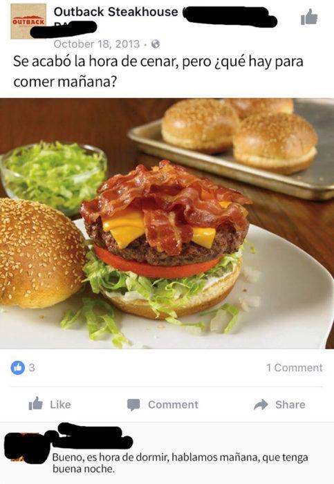 mensaje del face hamburguesa respuesta abuela