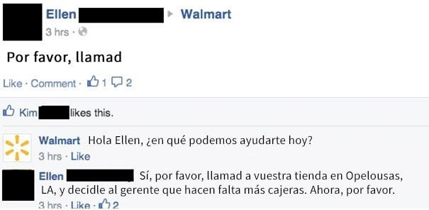 abuela tiene solicitud para walmart
